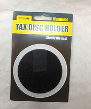 Round Black Fully Magnetic Tax Disc Premit Holder to Fit All Cars Windscreens jp