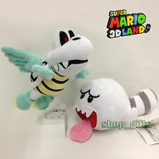 2X New Super Mario Bros. Plush Flying Winged Dry Bones Tail Boo Soft Toy Doll 7""