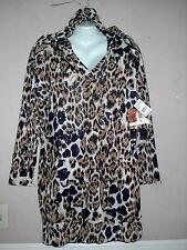 APPLE BOTTOMS WOMEN'S PLUS SIZE ANIMAL PRINT LONG SLEEVE HOODIE DRESS Sz 2X NWT