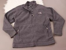 The North Face gray front zip pocket pullover fleece sweater mens size small