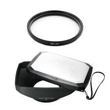 72mm Wide Lens Hood, MCUV Filter for Sony DSC-HX1, HDR FX1,HDR-FX1000,HVR-Z5 Z5U