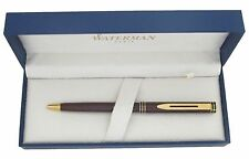 WATERMAN EXCLUSIVE MARBLE TORTOISE  & GOLD TRIM  BALLPOINT PEN  NEW IN BOX