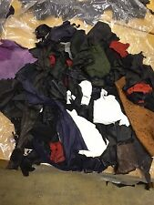 2 KG of Genuine Leather Mixed Colours & Textures Scraps/Off-cuts/Remnants/Pieces