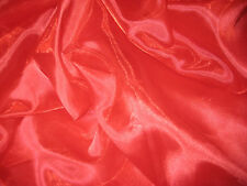 """Red Sheer  Iridescent 100% Polyester Organza Fabric  58"""" Wide Sold By The Yard"""