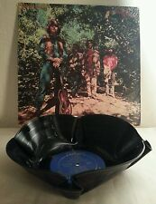 CREEDENCE CLEARWATER GREEN RIVER RECYCLED VINYL ALBUM RECORD BOWL & COVER BOX