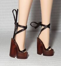 SHOES ~ MATTEL BARBIE DOLL DAY IN THE SUN ANKLE TIE HOLLYWOOD SANDALS ACCESSORY