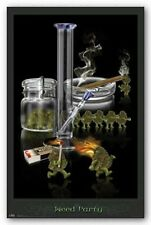 WEED PARTY POSTER - 24x36 MARIJUANA POT SMOKING FUNNY 6708
