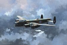"Avro Lancaster Bomber Plane Aircraft Airplane Painting Art Print - 14"" Print"