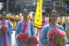 493064 Paekche Festival Street Parade Through Puyo Korea A4 Photo Print