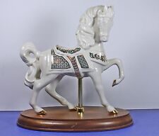 Lenox 1995 China Jewels Carousel Horse 24k Turquoise Accents Porcelain Retired