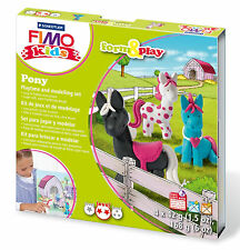New FIMO Kids Form & Play Set Pony Modelling Jewellery Craft Art Fun