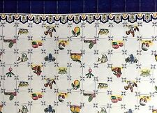 DOLLHOUSE MINIATURE WALLPAPER / KITCHEN TILE SHEET  -  COCINA DE CAMPO