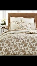 Martha Stewart Duvet Cover Sketched Roses Twin  Flannel Neutral Floral