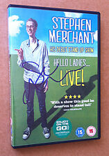 STEPHEN MERCHANT SIGNED Stand Up Show DVD 'HELLO LADIES... LIVE!' Ricky Gervais
