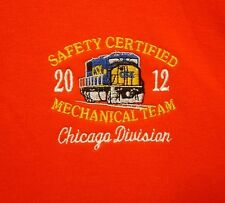 CSX logo sweatshirt XL Chessie Railroad train Chicago crewneck 2012 embroidery
