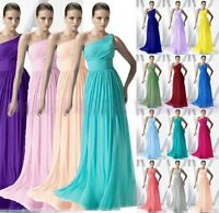 Sexy One Shoulder Bridesmaid Dresses Floor Length Formal Evening Gowns Size 6-16
