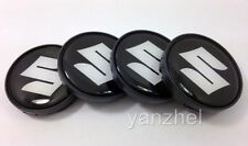 SUZUKI Wheel Center Hub Caps Silicone Logo Emblem 55mm/50mm Set of 4pcs