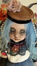 Foisy, Creepy OOAK Reborn, Horror Porcelain Gothic Clown Ballerina Doll