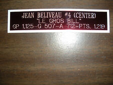 JEAN BELIVEAU NAMEPLATE FOR SIGNED PUCK DISPLAY/JERSEY CASE/PHOTO