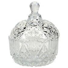 Tazón de cristal con tapa Fuente Taza Bombonera Adornos