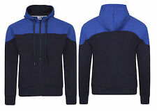 Mens Boys Fleece American Fashion Zipper Hoody contrast yoke Jacket Sweatshirt