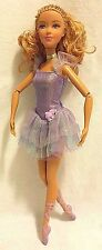 Barbie in The 12 Dancing Princesses Isla Ballerina Barbie Doll Purple EUC