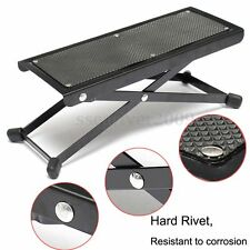 "Guitar Player Foot Stool Rest Stand Adjustable 4.5"" to 9.5"" Electric & Acoustic"