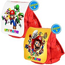 Personalised SUPER MARIO school bag kids childrens backpack rucksack nursery NEW