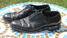 VTG Roblee Black Genuine Shell Cordovan Horse Leather Size 8 C 8C Oxford Shoes