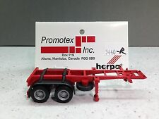 HO 1/87 Promotex # 5440 Tandem Axle 20' Chassis Container - Red