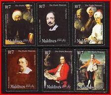 MALDIVES 2000 famous PAINTINGS fr.PRADO MUSEUM MNH RUBENS, HORSES, COSTUMES