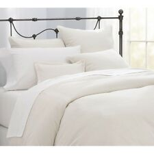 KING SIZE FLAT SHEET IVORY CREAM LUXURY COMBED PIMA COTTON 400 THREAD COUNT