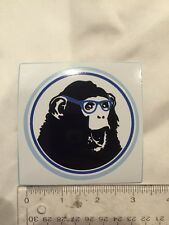 Monkey With Glasses Decal Sticker