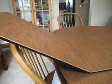 CHESTNUT LEATHER TONE CUSTOM DINING TABLE PADS KITCHEN TABLEPAD  MAGNET LOCKS
