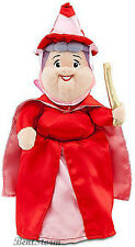 Disney Store Sleeping Beauty FLORA Fairy Mini Bean Bag Plush Doll RED DRESS NEW