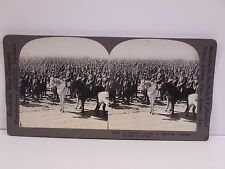 Antique Stereoview Card #18689 Bristling Forest Bayonets Russian Troops Keystone