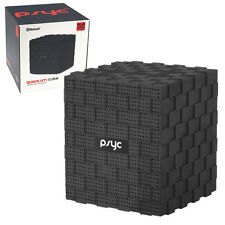 PSYC QUANTUM CUBE BLUETOOTH SPEAKER WITH MIC & SD CARD SLOT - FOR IPHONE ANDROID