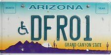 Arizona License Plate,  Original Nummernschild  USA   DFR01  ORIGINALSCAN