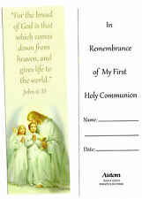 "1st First Holy Communion Bookmark ""JOHN 6:33 For the bread of God is that ...,,"