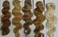 "Alexxis 18"" Clip in 100% Human Hair Extensions, 10pcs, 100g,  Wavy, Many Colors"