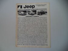 advertising Pubblicità 1979 JEEP CHEROKEE CHIEF/GOLDEN EAGLE