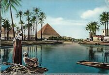 BF28421 egypt the pyramids during nile flood   front/back image