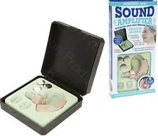 Left Right Hearing Aid Sound Amplifier Mini Behind In Ear Lightweight Voice Case