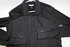 VERSACE Collection Black Studded Shirt Size 16-41