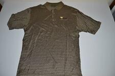 BOBBY JONES GOLF PRESIDENTS CUP BROWN PLAID POLO SHIRT MENS SIZE XL