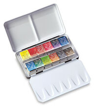Sennelier L'Aquarelle Artists Watercolour 12 Half Pan Metal Box Pocket Set