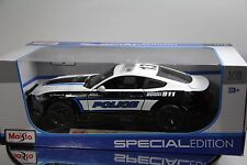 1/18 Maisto 2015 Ford Mustang GT 5.0 Police Cop emergency response with push bar