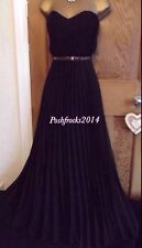 STUNNING ❤️ JANE NORMAN £65 Black Pleated Dress Sweetheart  Maxi  Size 10 12