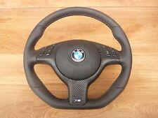 Spianate VOLANTE IN PELLE BMW e46 e39 M VOLANTE CON PANNELLO FRONTALE MULTI radio. e airbag a
