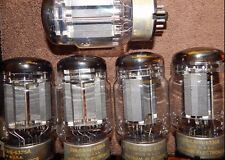 SET OF FIVE MATCHED CHATHAM 6336A / 6336 CARBON PLATE RARE DESIGN POWER TUBES +5